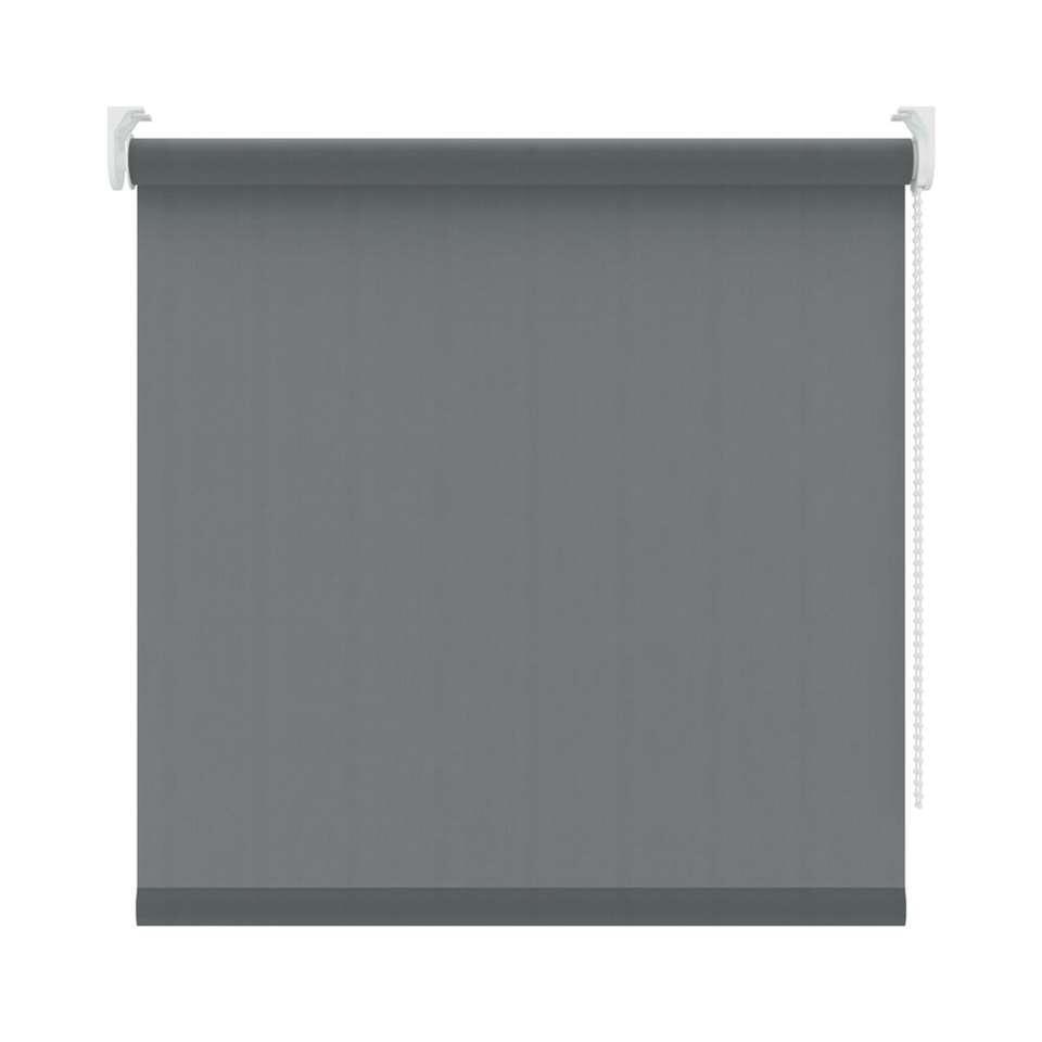 Rolgordijn lichtdoorlatend - antraciet - 60x250 cm - Leen Bakker
