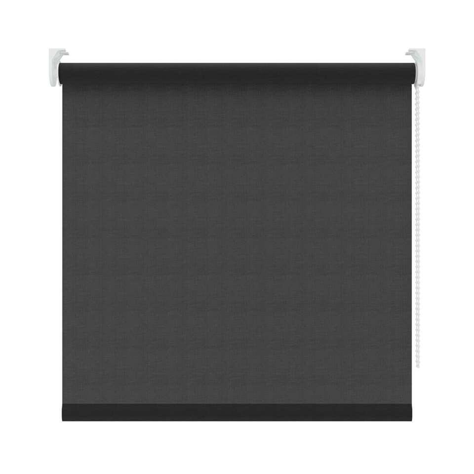 Rolgordijn lichtdoorlatend - zwart - 90x190 cm