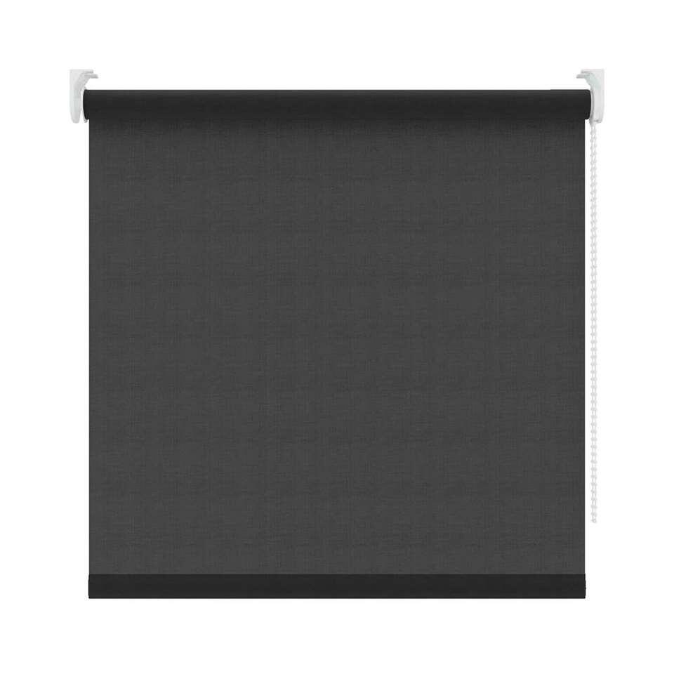 Rolgordijn lichtdoorlatend - zwart - 120x190 cm - Leen Bakker