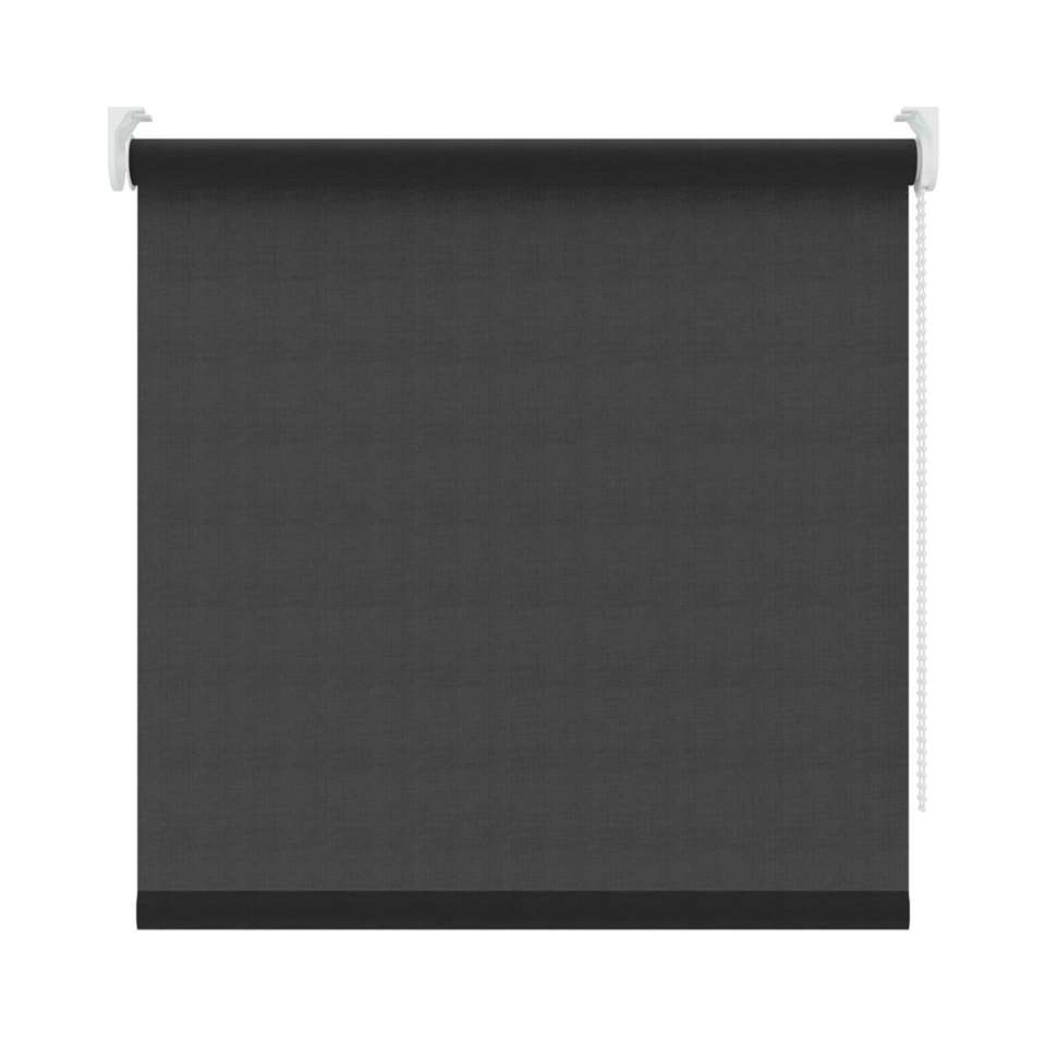 Rolgordijn lichtdoorlatend - zwart - 150x190 cm