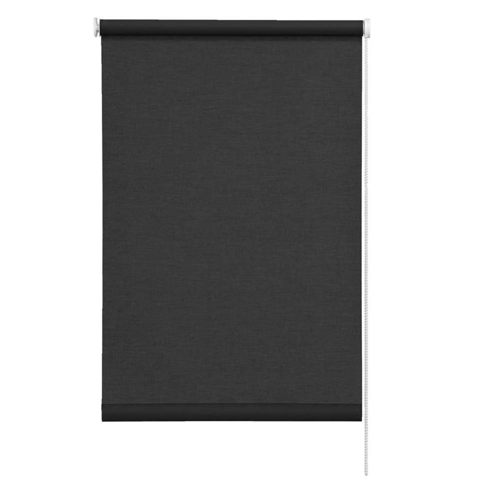 Rolgordijn lichtdoorlatend - zwart - 180x250 cm - Leen Bakker