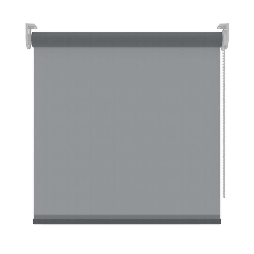 Rolgordijn lichtdoorlatend - antraciet - 270x190 cm - Leen Bakker