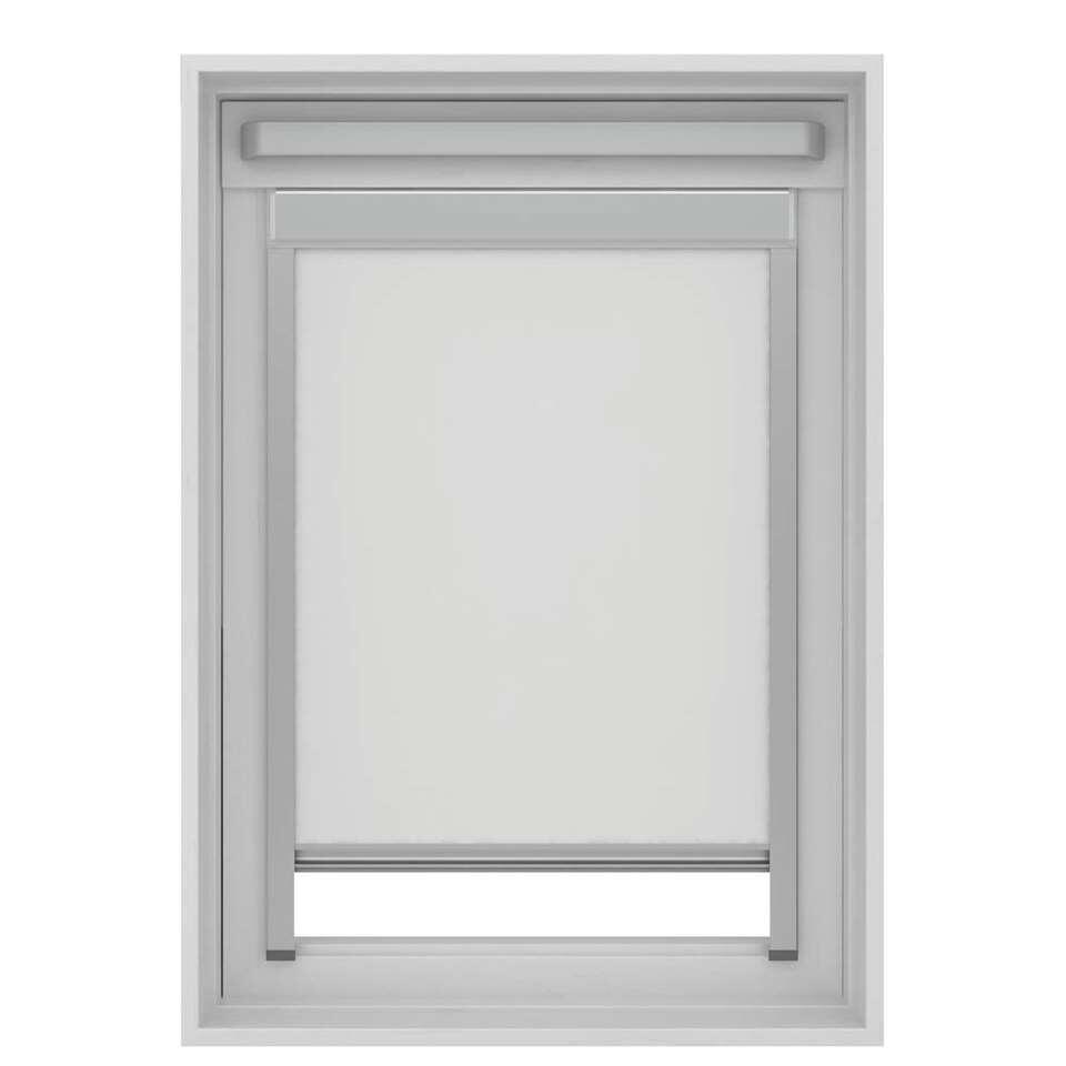 Dakraamrolgordijn verduisterend - wit - SK06 - 114x118 cm