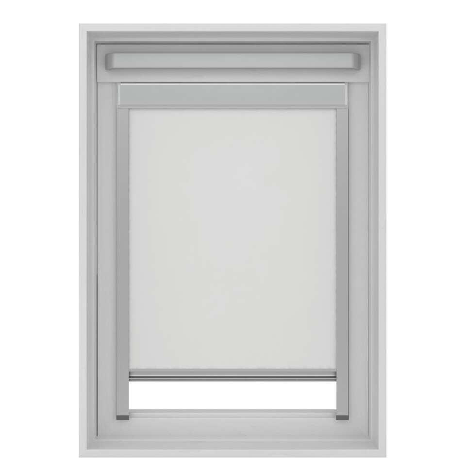 Dakraamrolgordijn verduisterend - wit - UK08 - 134x140 cm - Leen Bakker