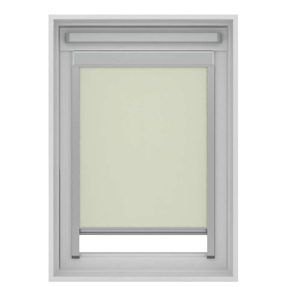 Dakraamrolgordijn verduisterend - ecru - UK04 - 134x98 cm