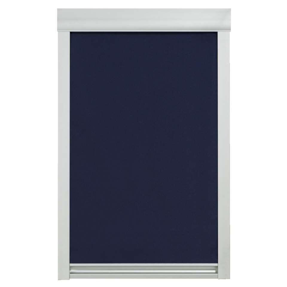 Dakraamrolgordijn verduisterend - donkerblauw - CK02 - 55x78 cm - Leen Bakker