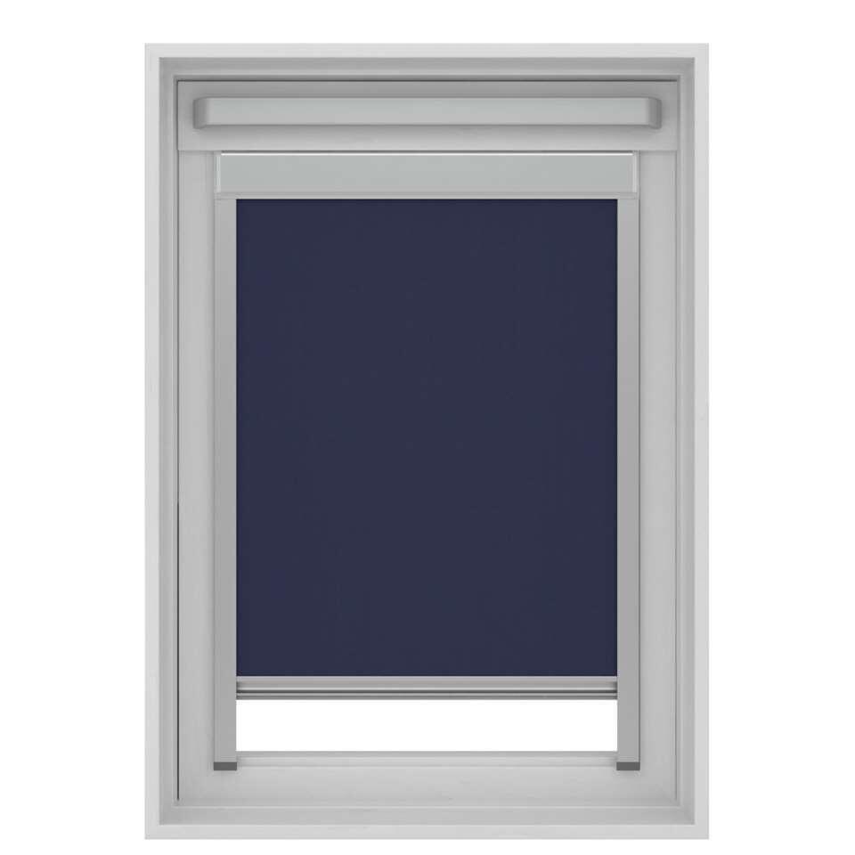 Dakraamrolgordijn verduisterend - donkerblauw - UK08 - 134x140 cm - Leen Bakker