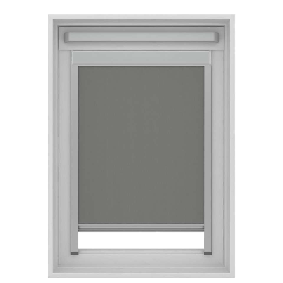 Dakraamrolgordijn verduisterend - grijs - MK08 - 78x140 cm - Leen Bakker