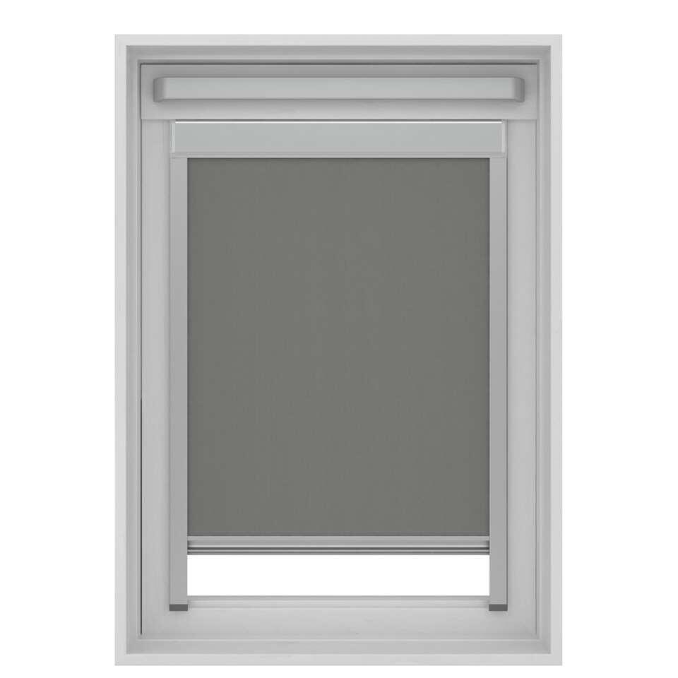 Dakraamrolgordijn verduisterend - grijs - UK08 - 134x140 cm