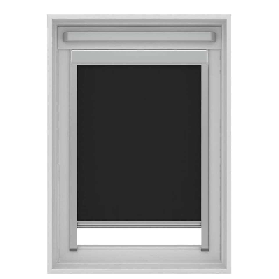 Dakraamrolgordijn verduisterend - zwart - SK06 - 114x118 cm