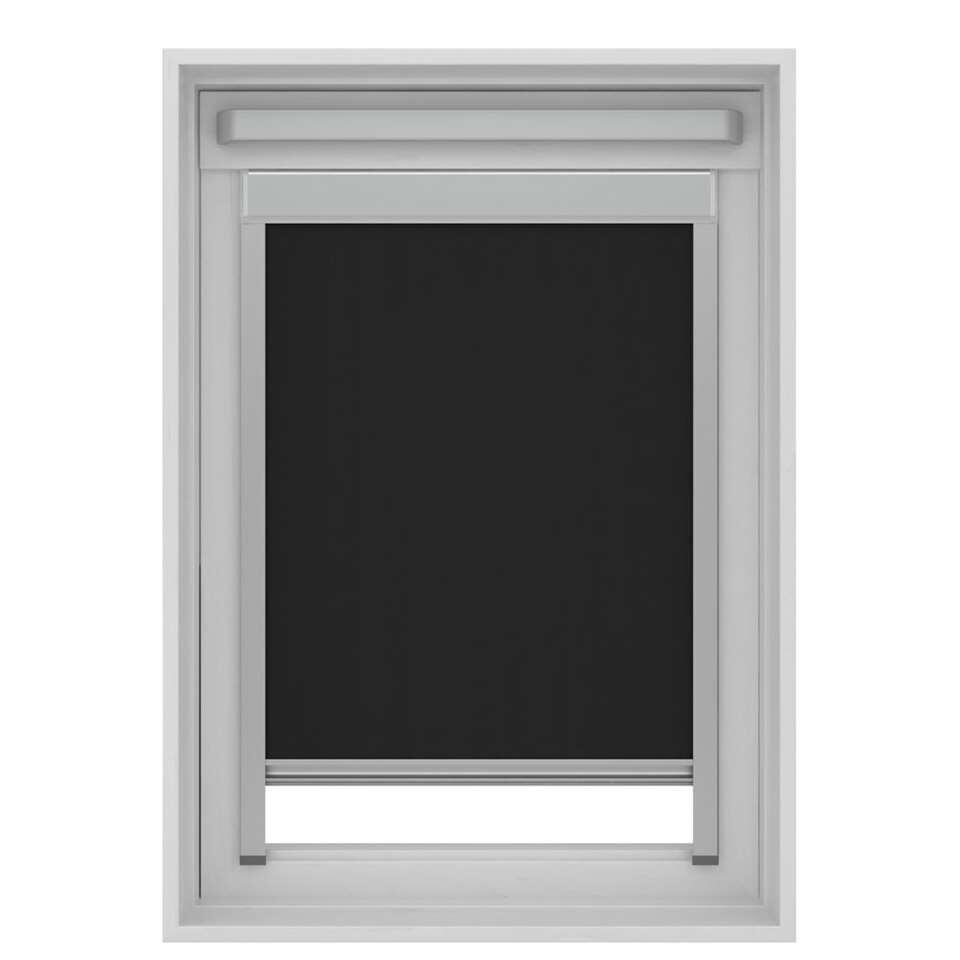 Dakraamrolgordijn verduisterend - zwart - UK04 - 134x98 cm - Leen Bakker