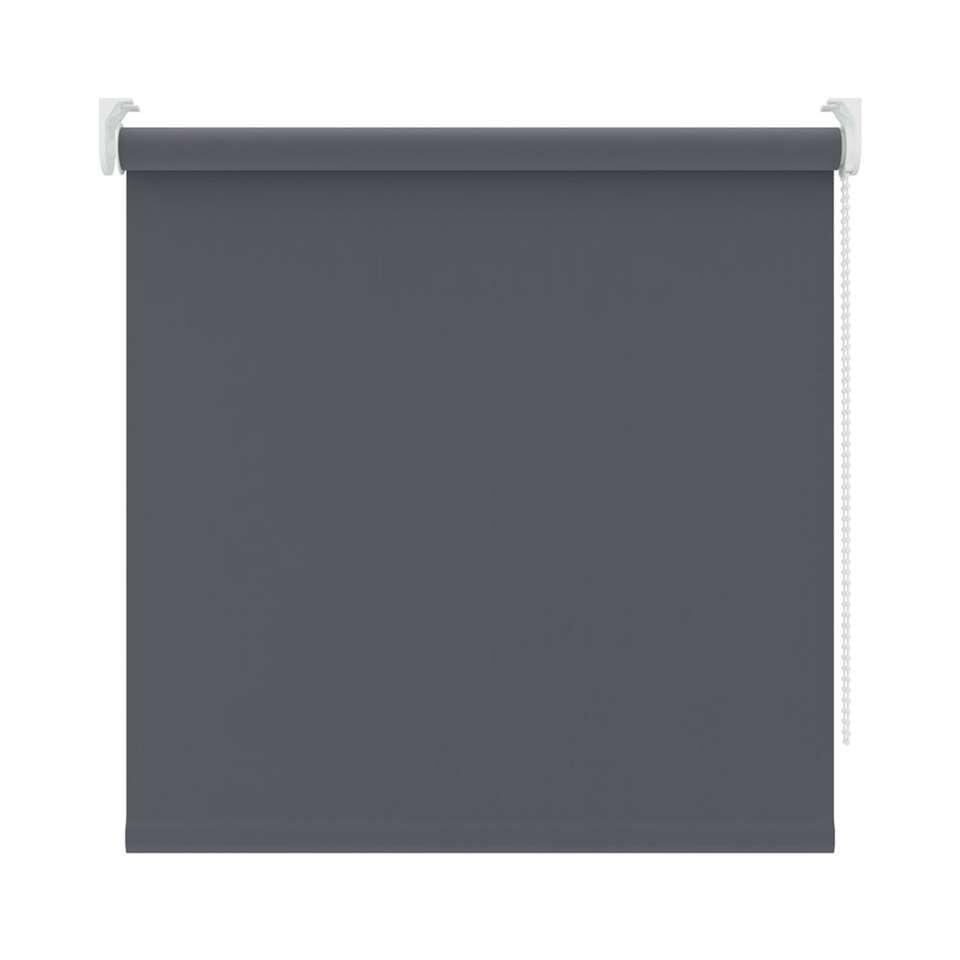 Rolgordijn verduisterend - antraciet - 90x250 cm - Leen Bakker