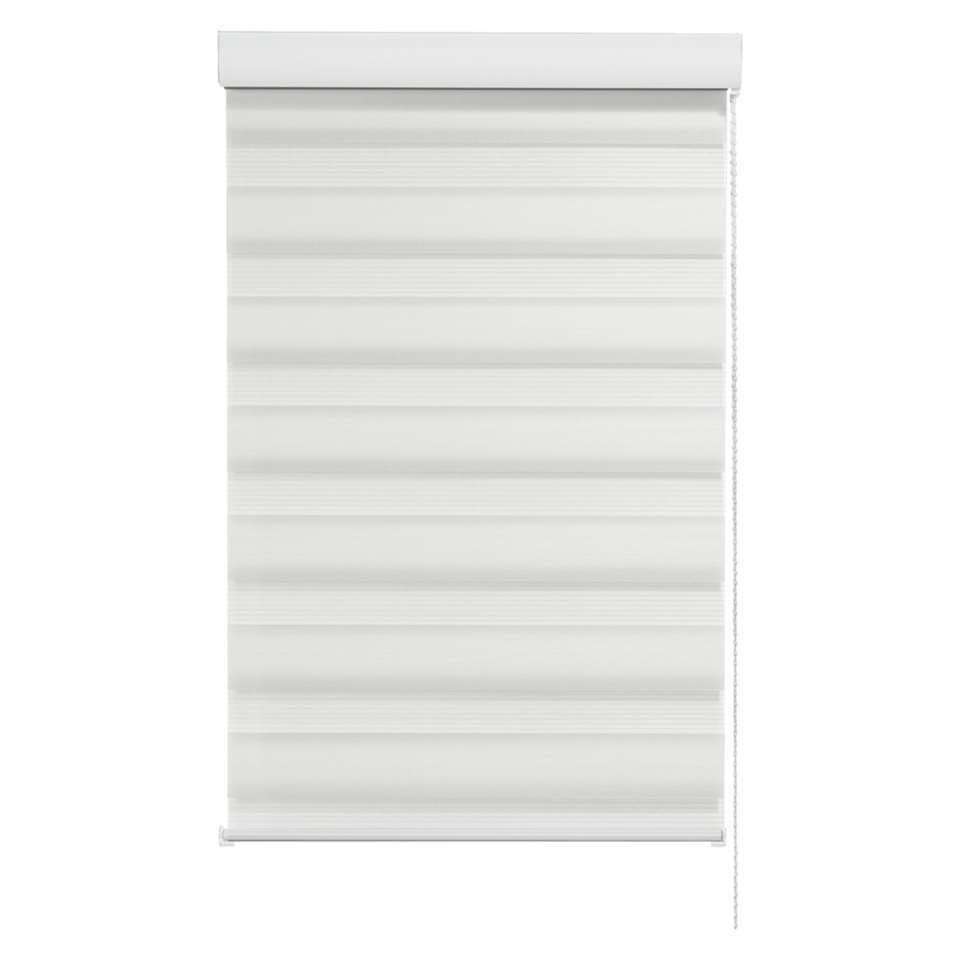 Roljaloezie lichtdoorlatend - wit - 180x160 cm - Leen Bakker