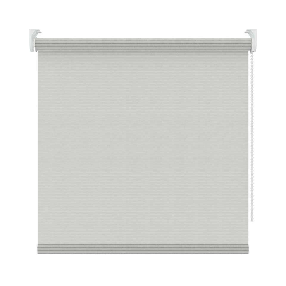 Rolgordijn lichtdoorlatend dessin - wit - 90x190 cm
