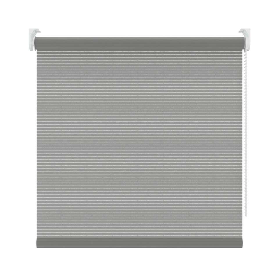 Rolgordijn lichtdoorlatend dessin - grijs - 210x190 cm