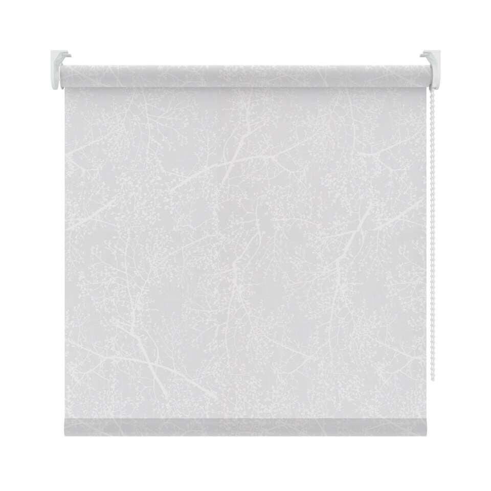 Rolgordijn lichtdoorlatend dessin – wit – 90×190 cm – Leen Bakker