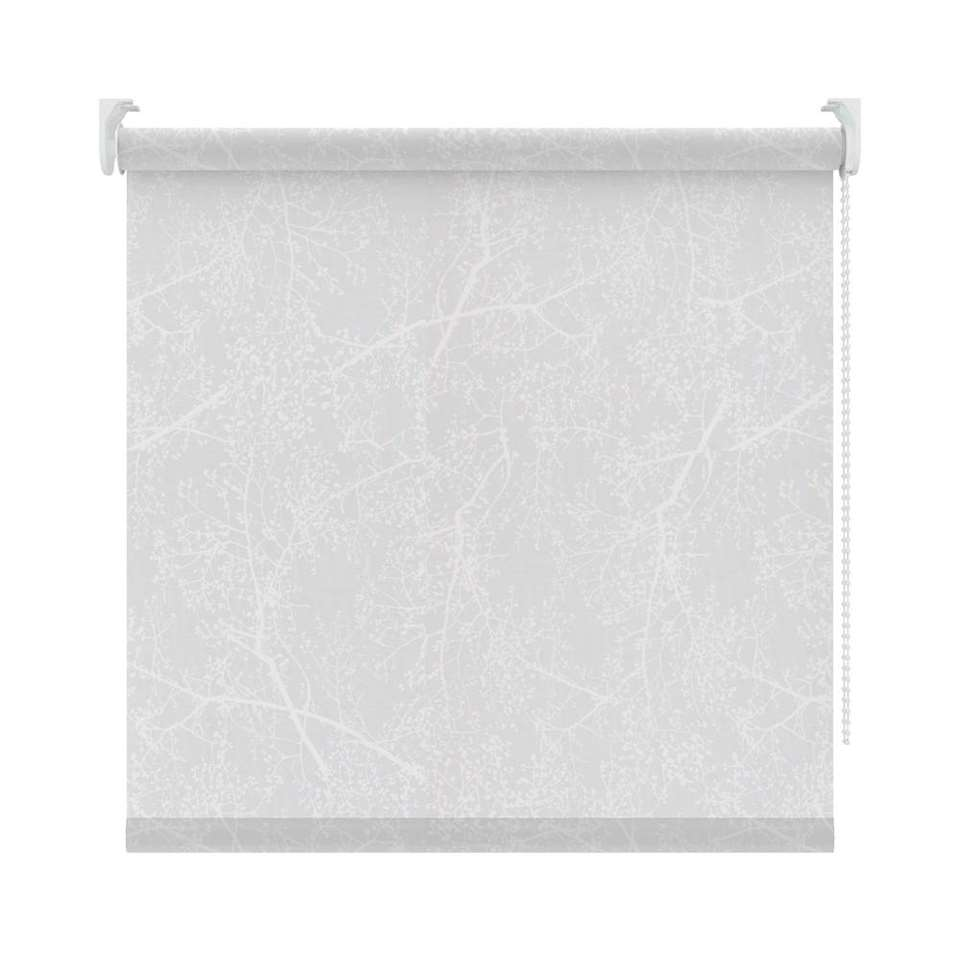 Rolgordijn lichtdoorlatend dessin - wit - 120x190 cm