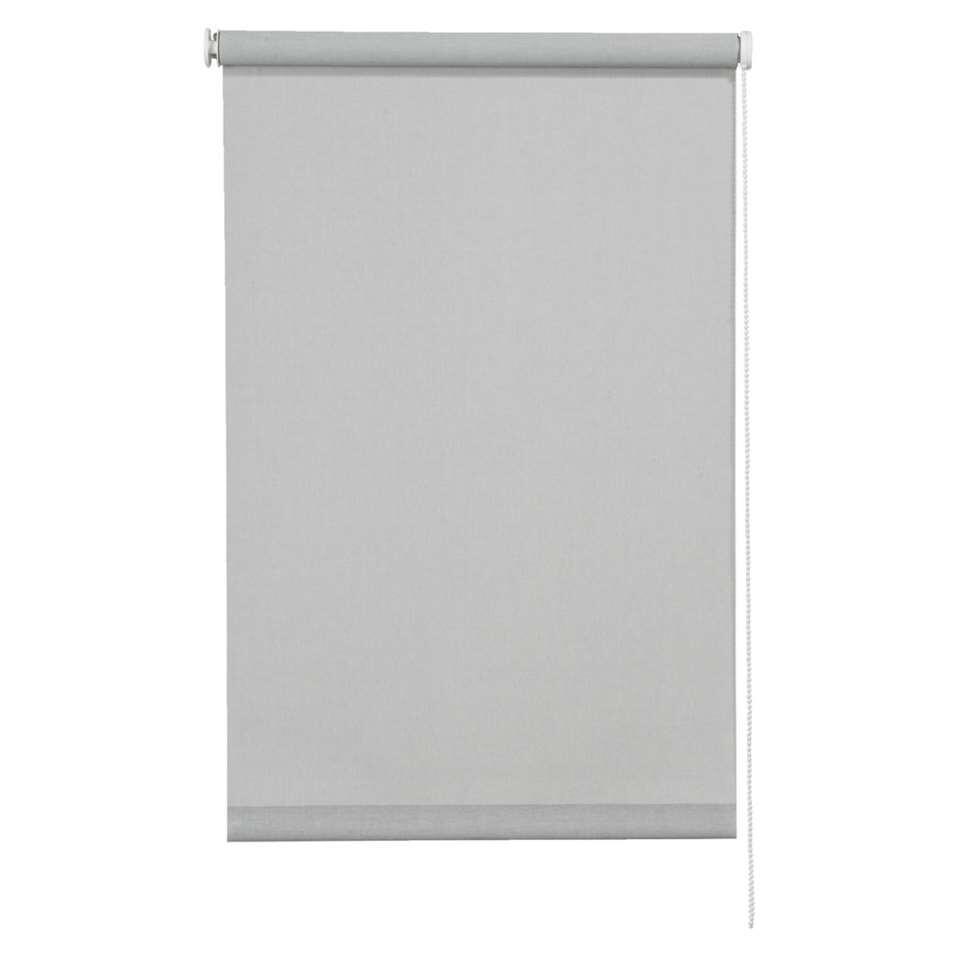 Rolgordijn lichtdoorlatend screenstof - grijs - 60x190 cm - Leen Bakker