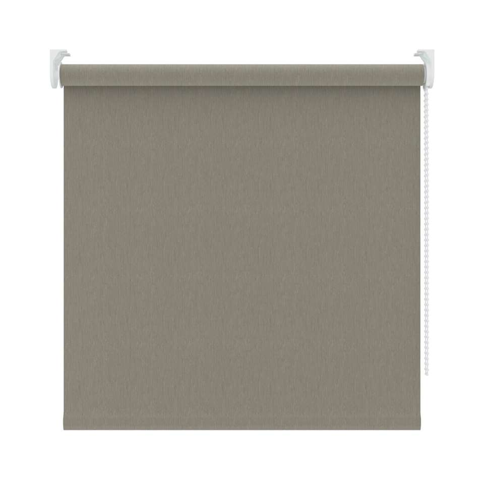 Rolgordijn verduisterend - dessin warm grijs - 90x190 cm