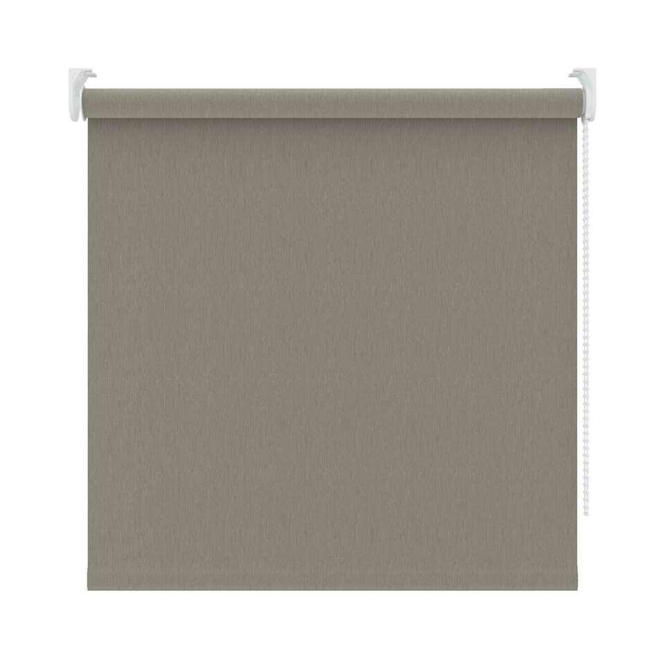 Rolgordijn verduisterend – dessin warm grijs – 120×190 cm – Leen Bakker