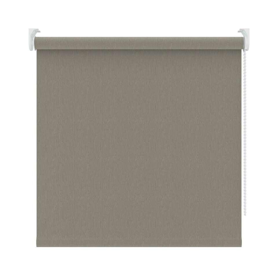 Rolgordijn verduisterend - dessin warm grijs - 150x190 cm - Leen Bakker