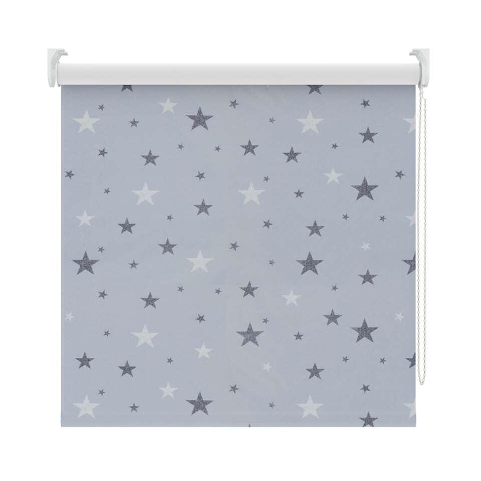 Rolgordijn verduisterend – dessin grijs/wit – 150×190 cm – Leen Bakker