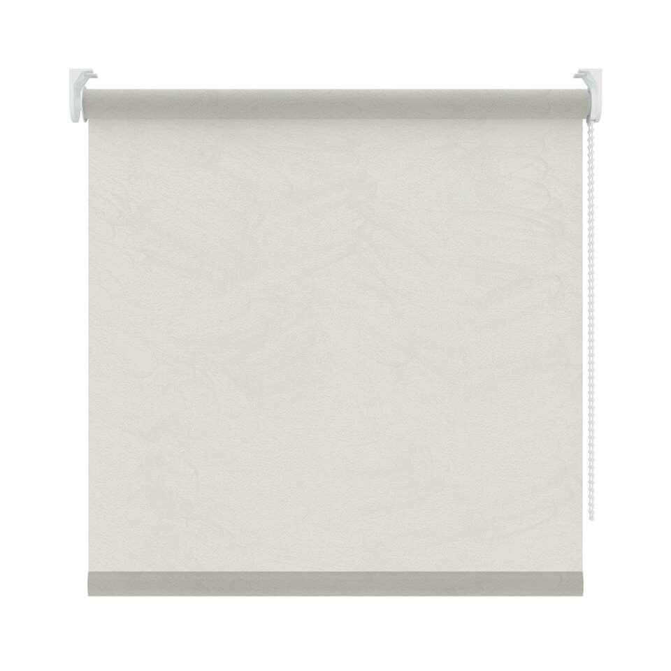 Rolgordijn lichtdoorlatend - wit/lichtgrijs - 90x190 cm - Leen Bakker