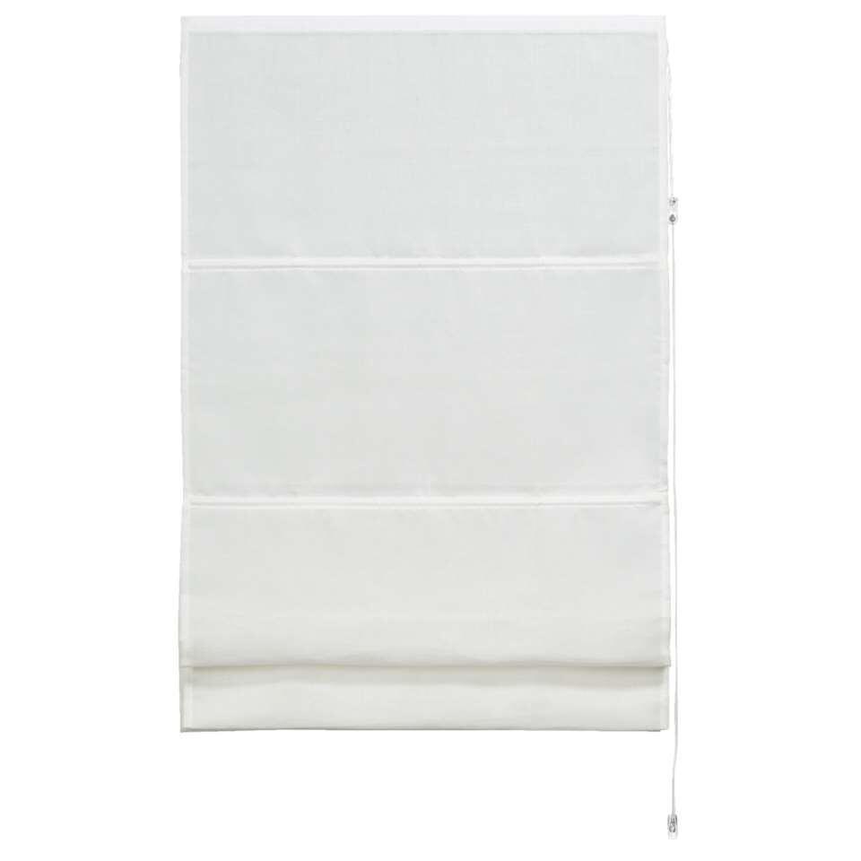 Vouwgordijn transparant - wit - 140x180 cm