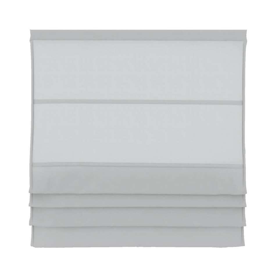Vouwgordijn lichtdoorlatend - wit - 100x180 cm - Leen Bakker
