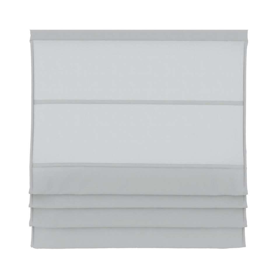 Vouwgordijn lichtdoorlatend - wit - 180x180 cm