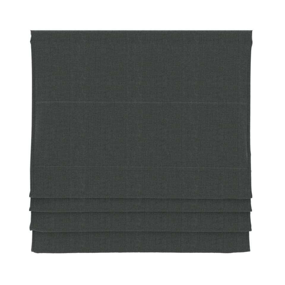 Vouwgordijn verduisterend – antraciet – 140×180 cm – Leen Bakker