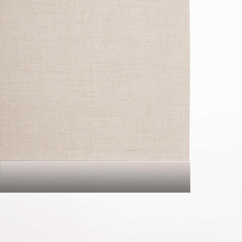 Decoratieve onderlat rolgordijn - aluminium - 180 cm