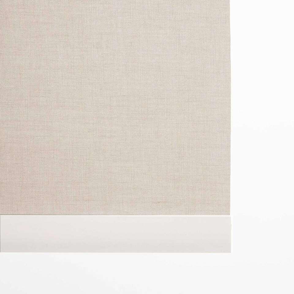 Decoratieve onderlat rolgordijn - wit - 120 cm