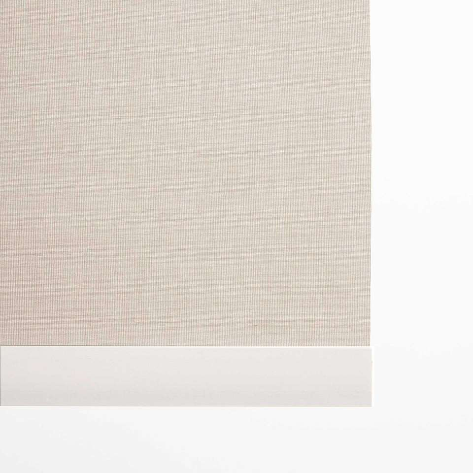 Decoratieve onderlat rolgordijn - wit - 180 cm