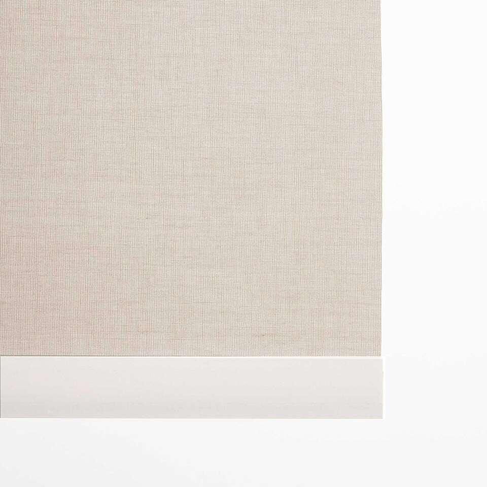 Decoratieve onderlat rolgordijn - wit - 210 cm