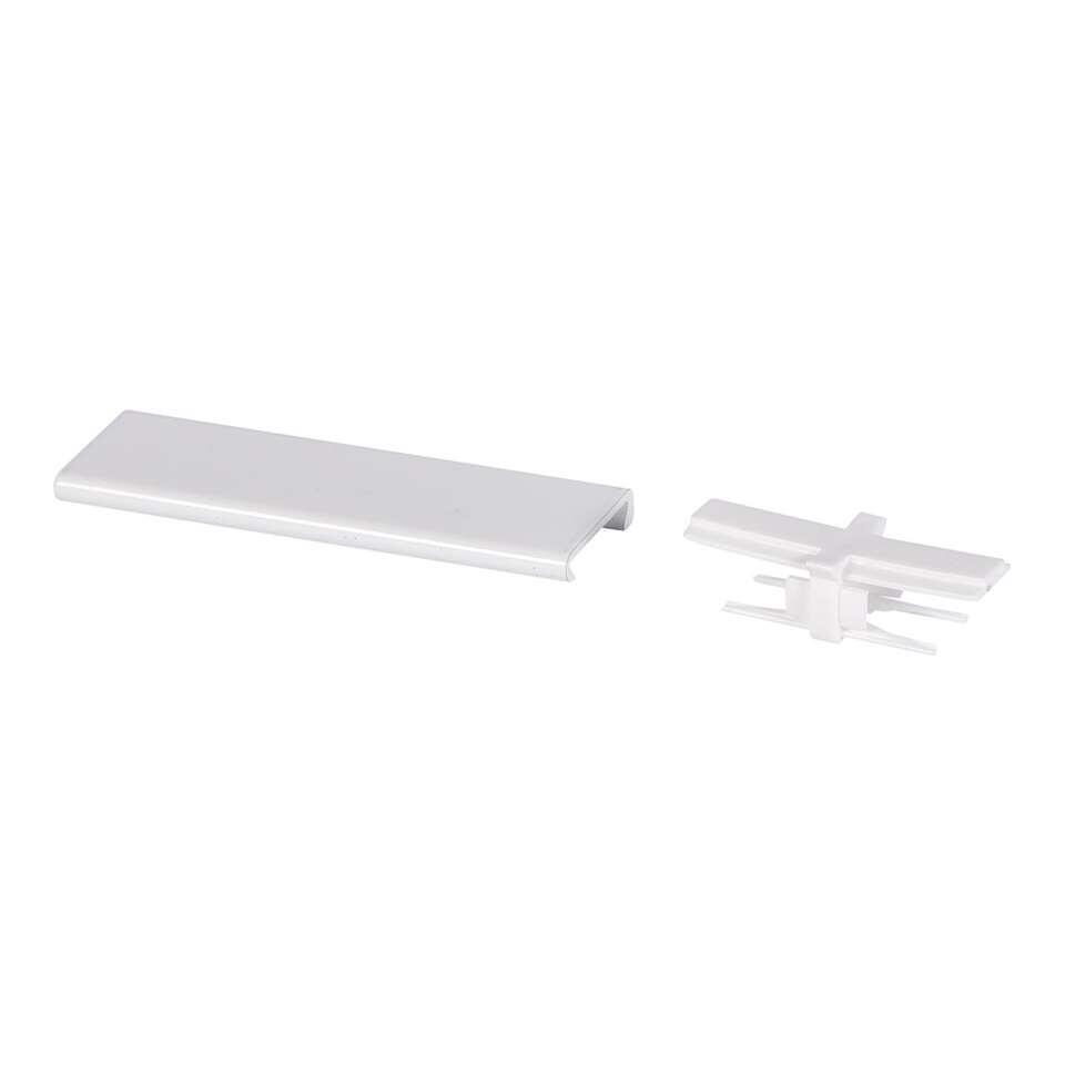 Verbinder Endless track wordt geleverd per 1 stuk. De verbinder verbindt twee aluminium rails aan elkaar. Hierdoor overbrug je lange lengtes.