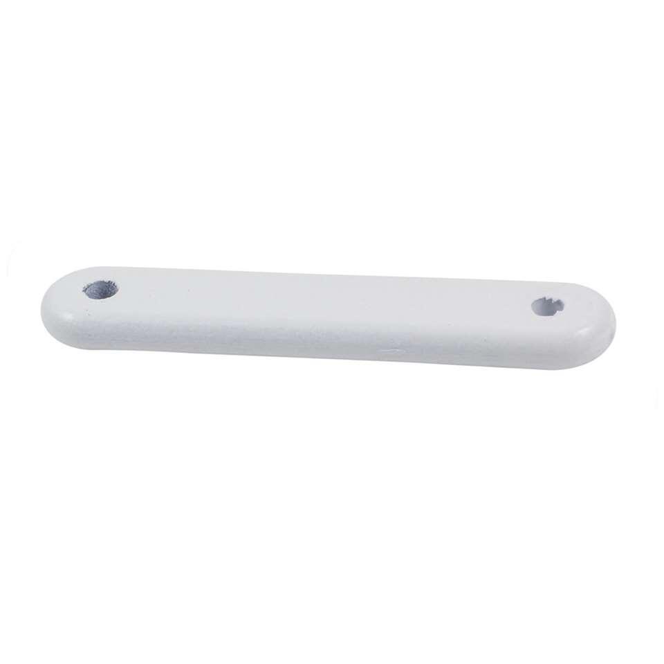 Loodstaven met een gewicht van 25 gram in de kleur wit. Per 4 stuks. Loodstaven worden gebruikt in de naden van gordijnen.