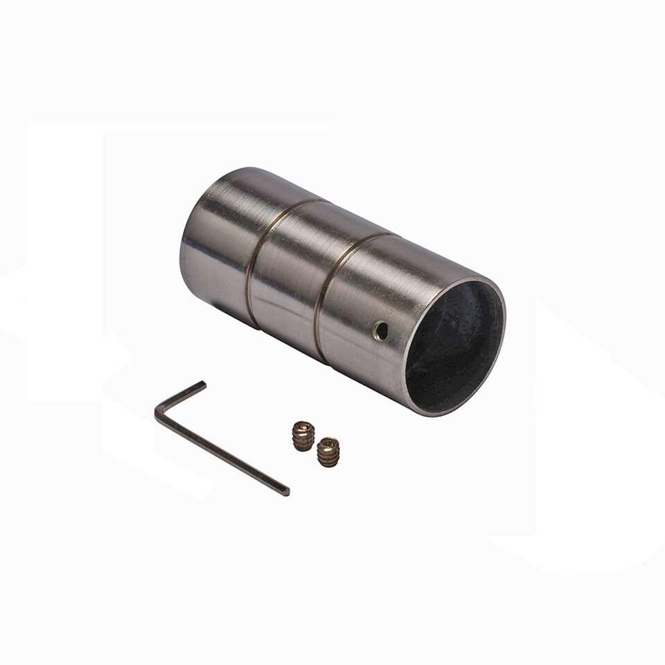 Gordijnroede knop 28 mm cilinder - zilver (1 stuks) - Leen Bakker