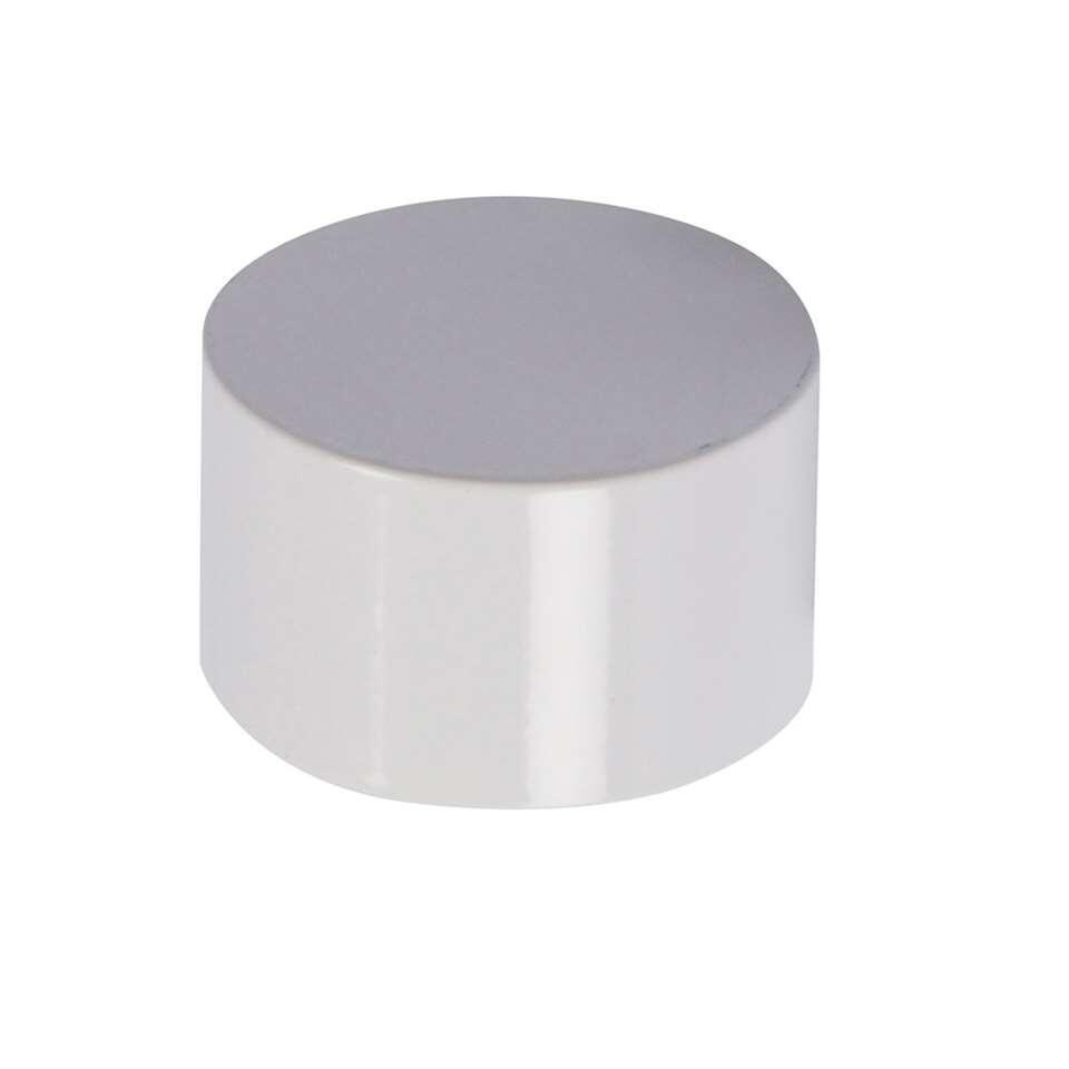 Gordijnroede knop Cap heeft een diameter van 20 mm en is hoogglans wit. Wordt geleverd per 2 stuks. Zet deze knoppen op de uiteinden van je gordijnroede en maak het geheel helemaal af!