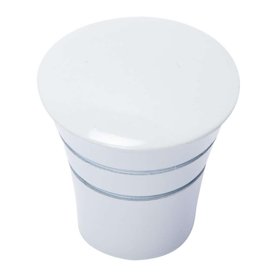 Gordijnroede knop Conical heeft een diameter van 20 mm en is hoogglans wit. Wordt geleverd per 2 stuks. Zet deze knoppen op de uiteinden van je gordijnroede en maak het geheel helemaal af!