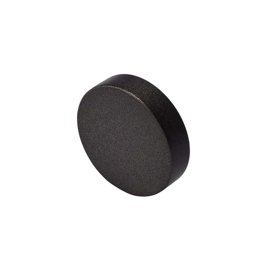 Gordijnroede knop Round Flat 20 mm - antraciet (2 stuks)