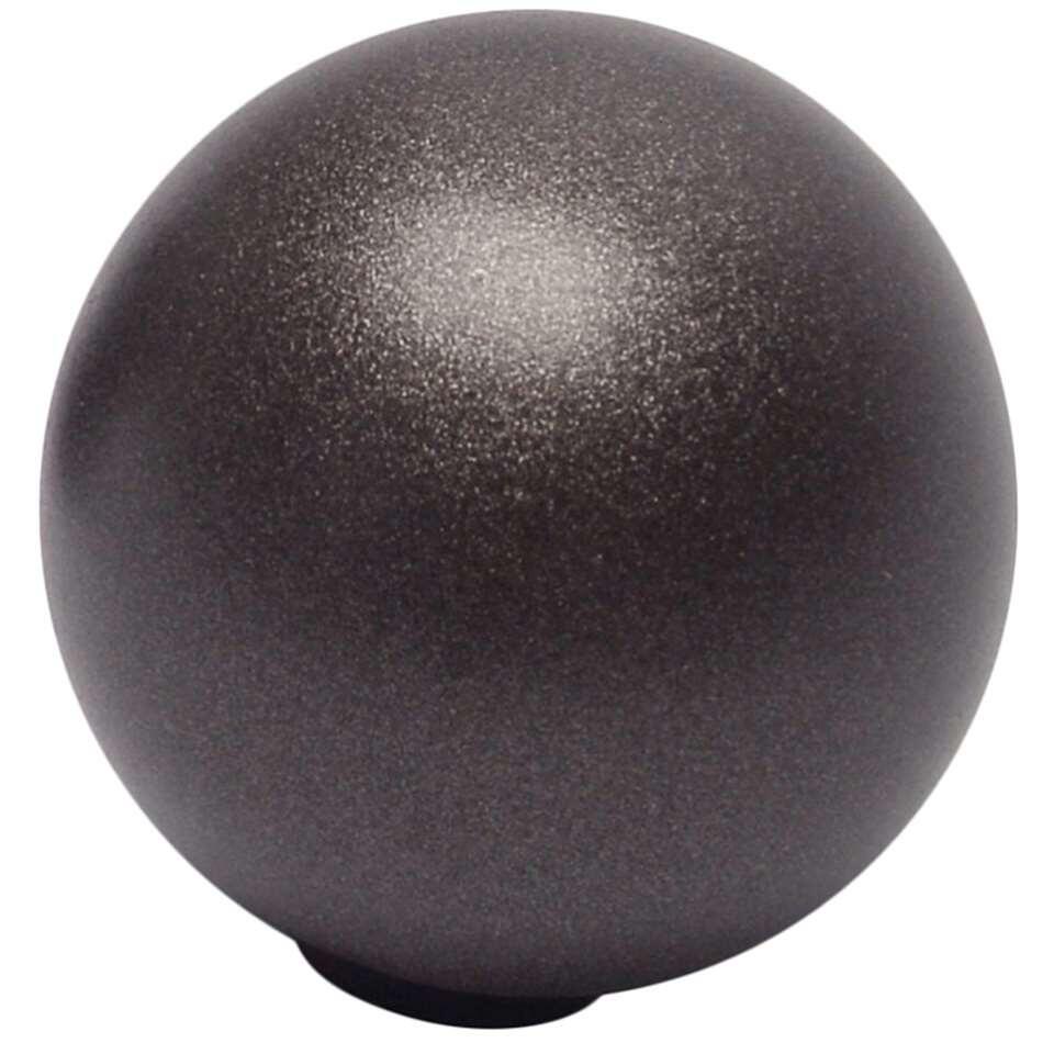 Gordijnroede knop Sphere 20 mm - antraciet (2 stuks)