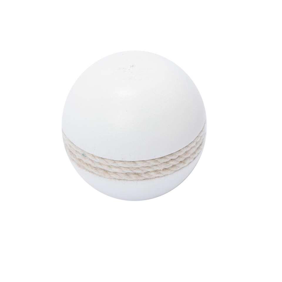 Gordijnroede knop hout Spere Rope 28 mm - wit (1 stuks) - Leen Bakker
