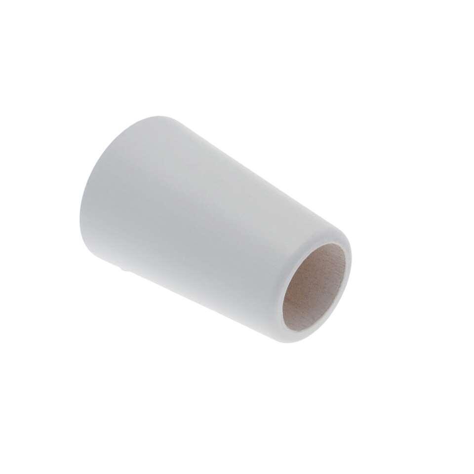 Gordijnroede knop hout Saxo Design 28 mm - wit (1 stuks)