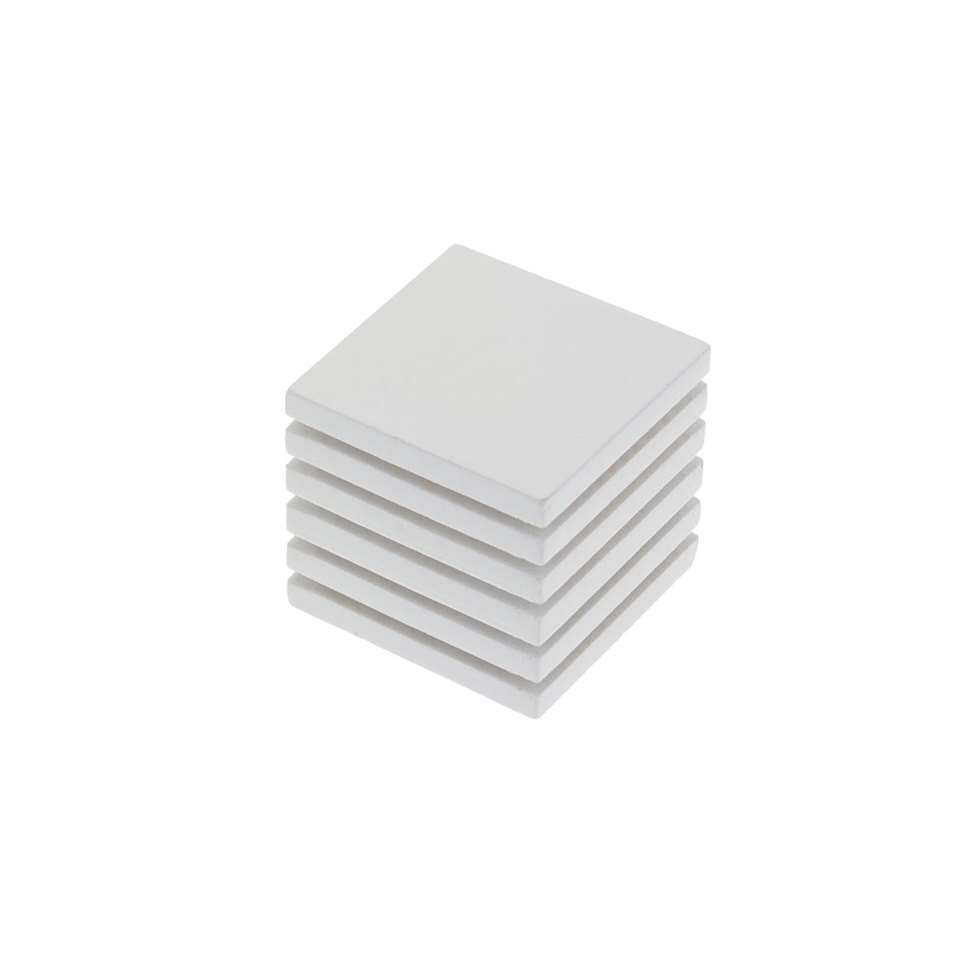 Gordijnroede knop hout Cube Striped 28 mm - wit (1 stuks)