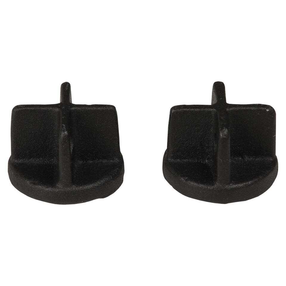 Gordijnroede knop Endcap 28 mm - mat zwart (2 stuks) - Leen Bakker