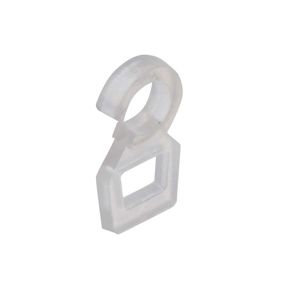 Overklikogen 20 mm voor metalen ringen - transparant (20 stuks)
