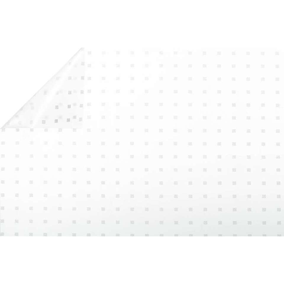 Bestfix raamfolie Block White - transparant - 45 cm - Leen Bakker