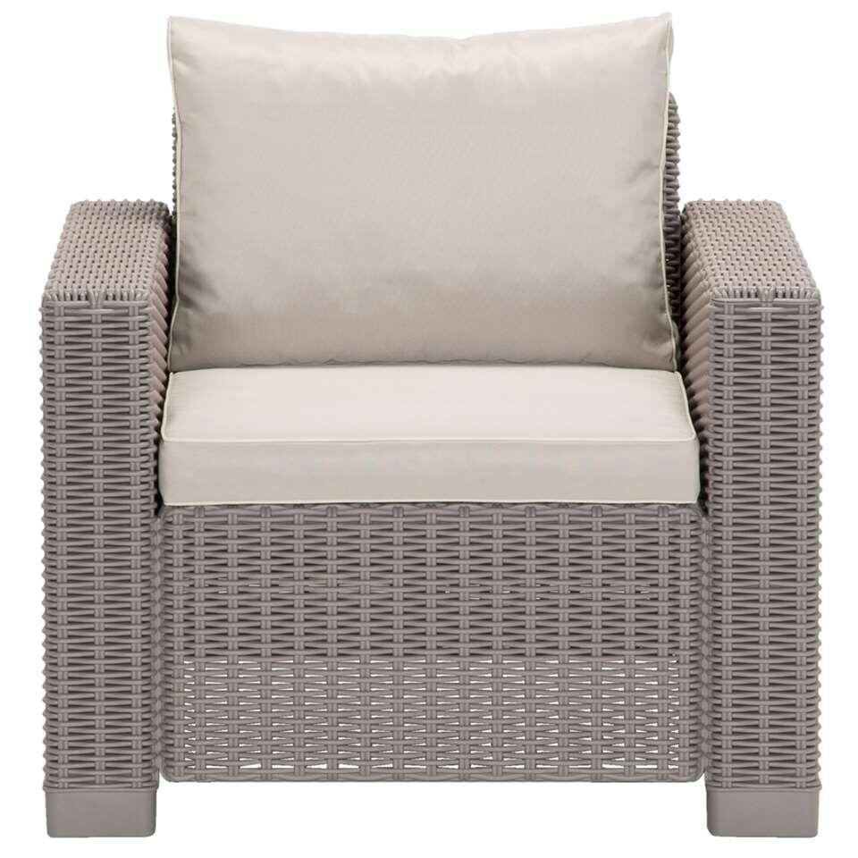 Allibert California fauteuil (excl. kussens) - cappuccino - Leen Bakker