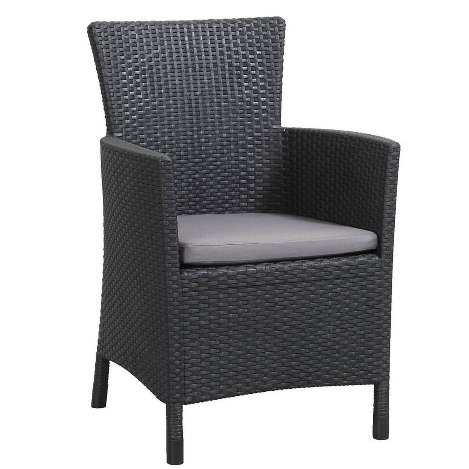Allibert fauteuil Iowa incl. zitkussen – grijs – Leen Bakker